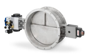 An image of a butterfly damper, commonly used in IAQ settings.